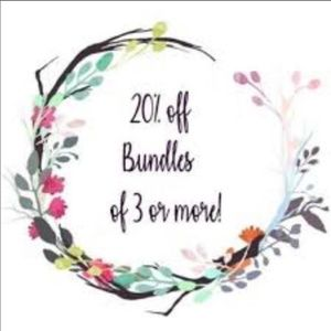 20% OFF of 3 or more, thank you for being here!!!